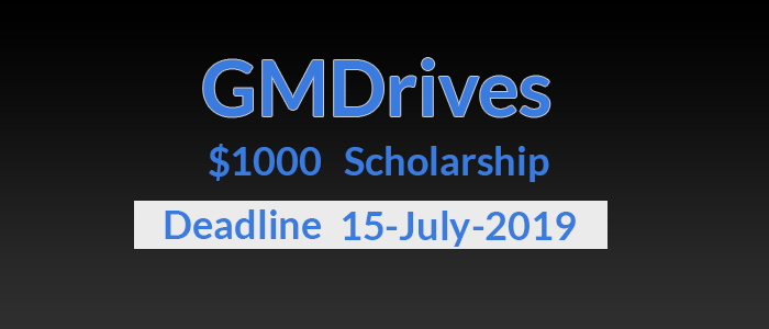 GMDrives $1000 ScholarShip Program