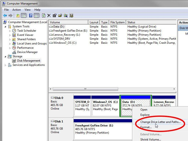 How to Change Hard Drive Letter Windoes 7/10, Server/CMD/DOS
