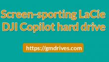 Screen-sporting LaCie DJI Copilot hard drive