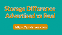 Advertised storage vs. real DATA