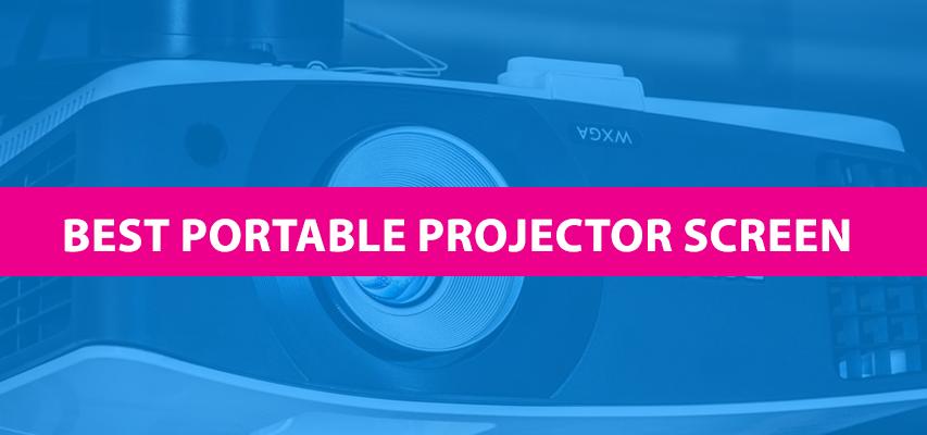 best portable projector screen