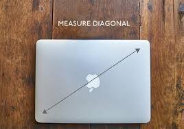 Measure laptop screen size diagonally