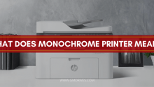 what does monochrome printer mean
