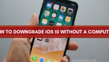 how to downgrade IOS 10 without a computer