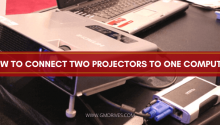 How to connect two projectors to one computer.