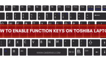 How to Enable Function Keys on Toshiba Laptop?
